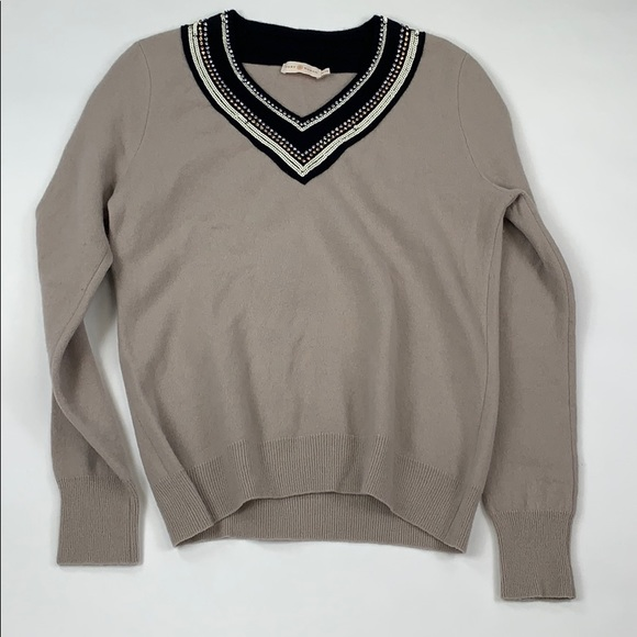 Tory Burch Sweaters - Tory Burch Beaded Collar Sweater